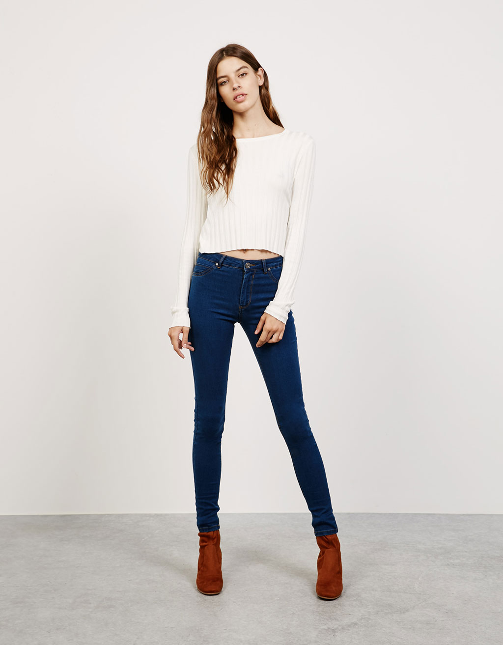 Super skinny regular waist stretch jeans