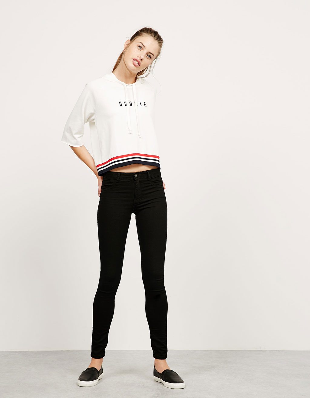 BSK regular waist super skinny jeans