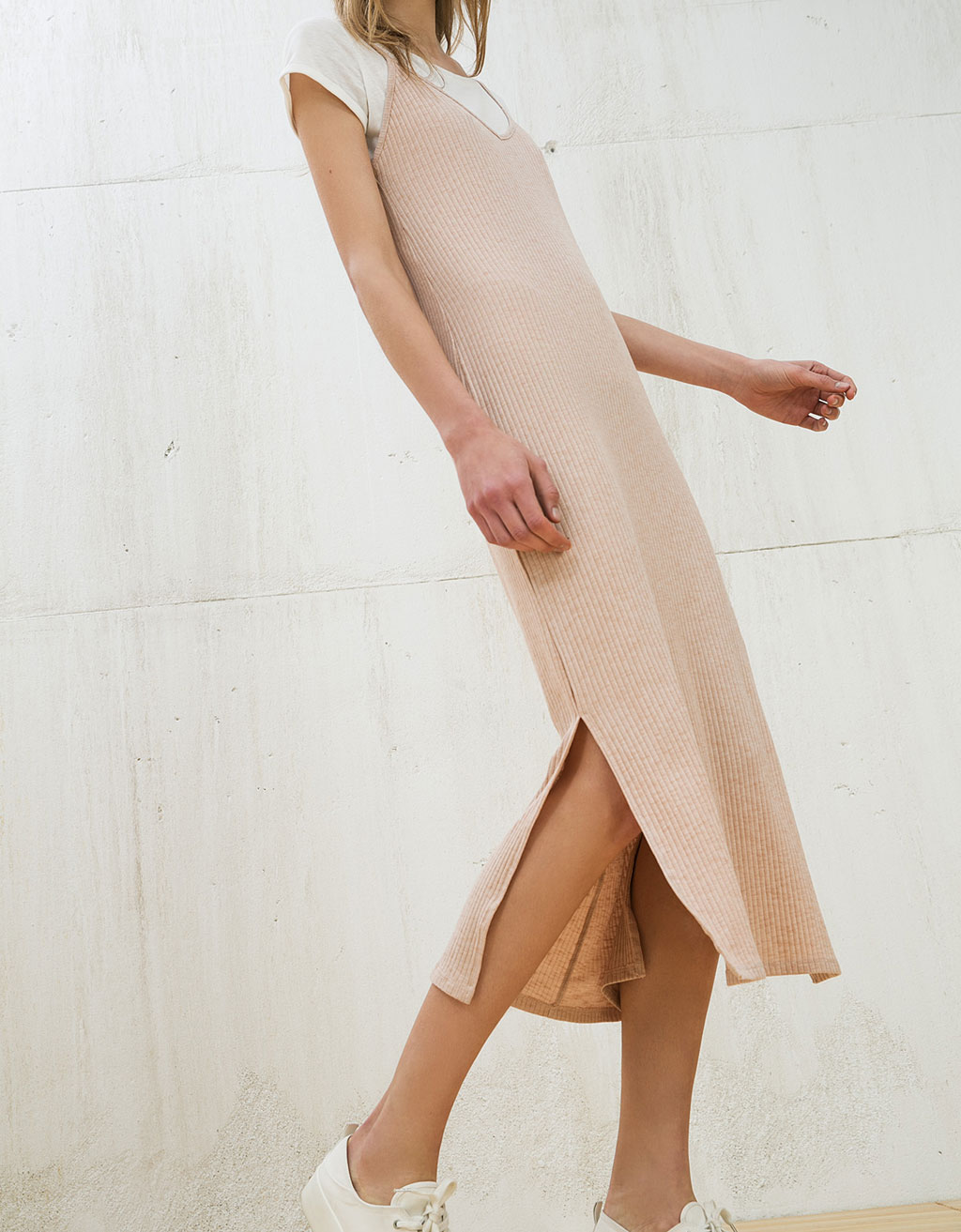 Canalé ankle-grazer dress