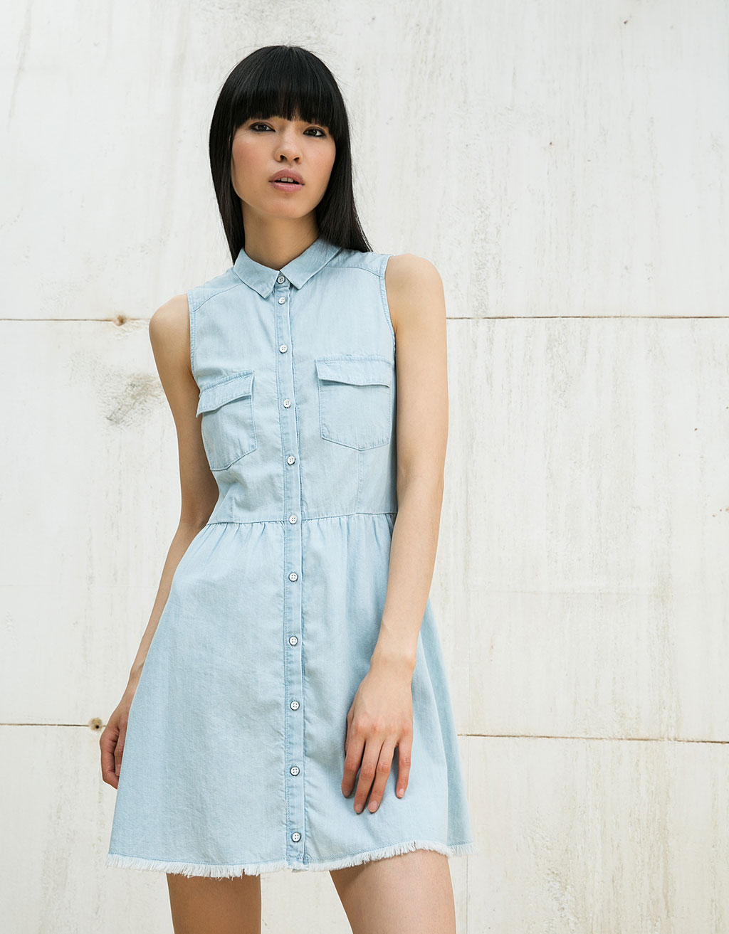 BSK sleeveless denim dress