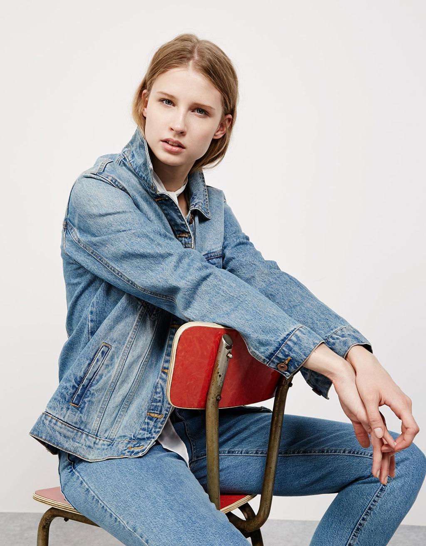 Blouson en jean oversize