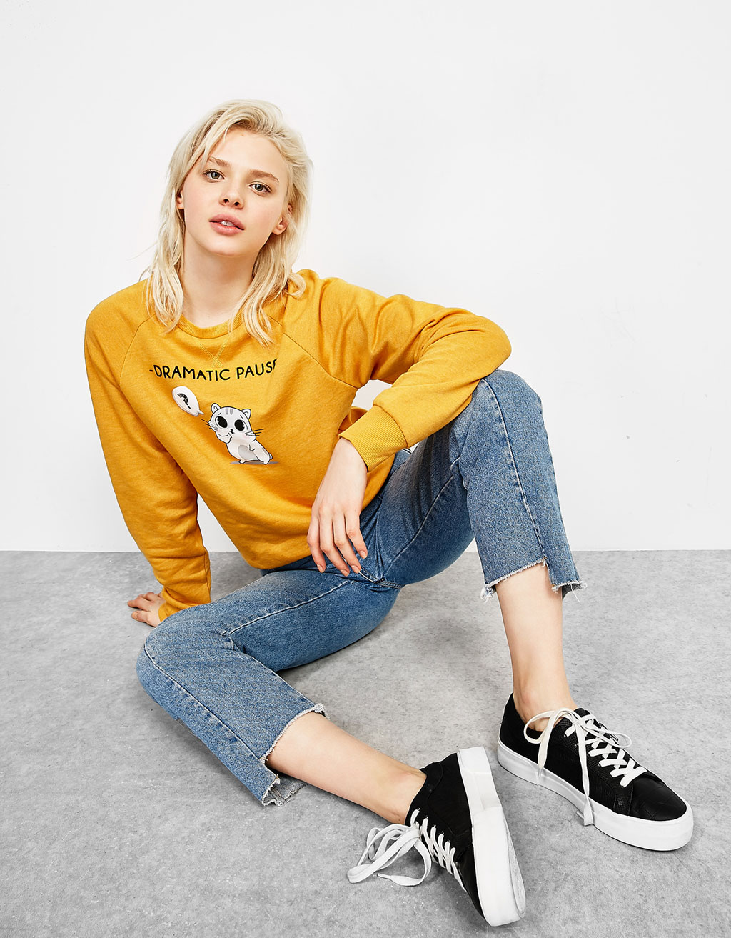 Dramatic Pause printed sweatshirt