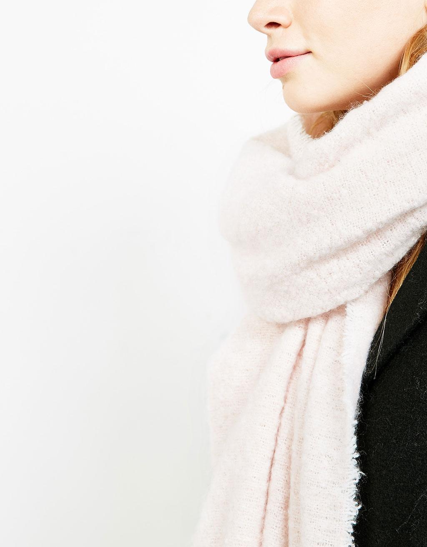 Halstørklæde med strukturer