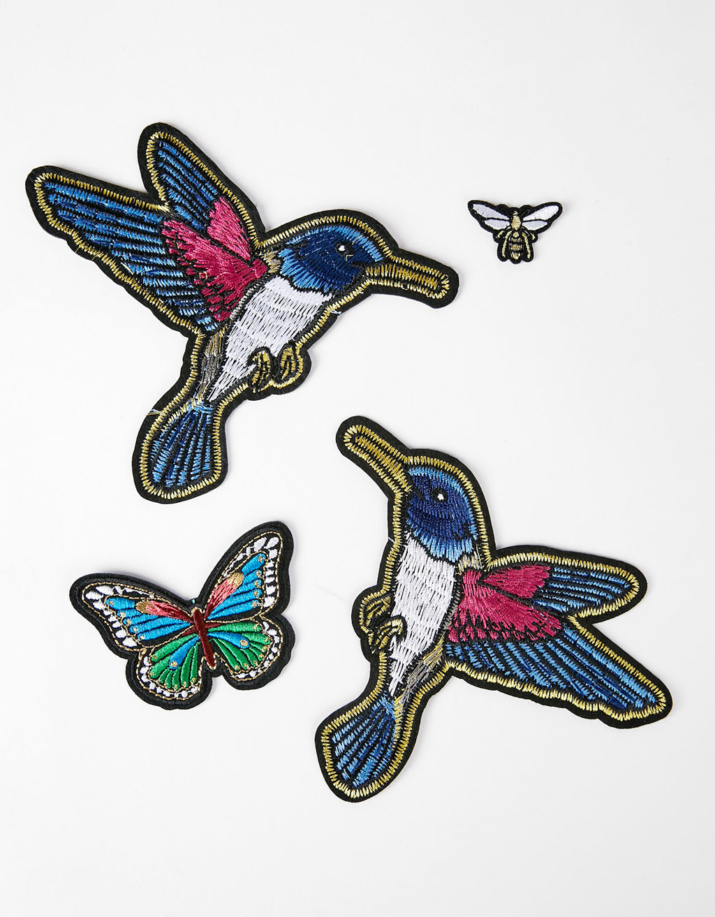 Set of bird patches