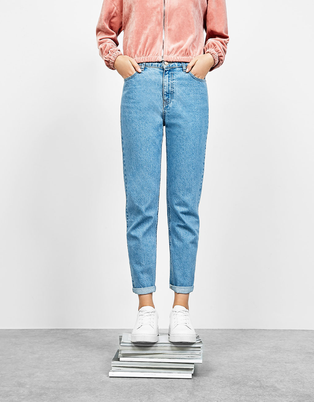 Jeans hight waist 'Mom Fit'