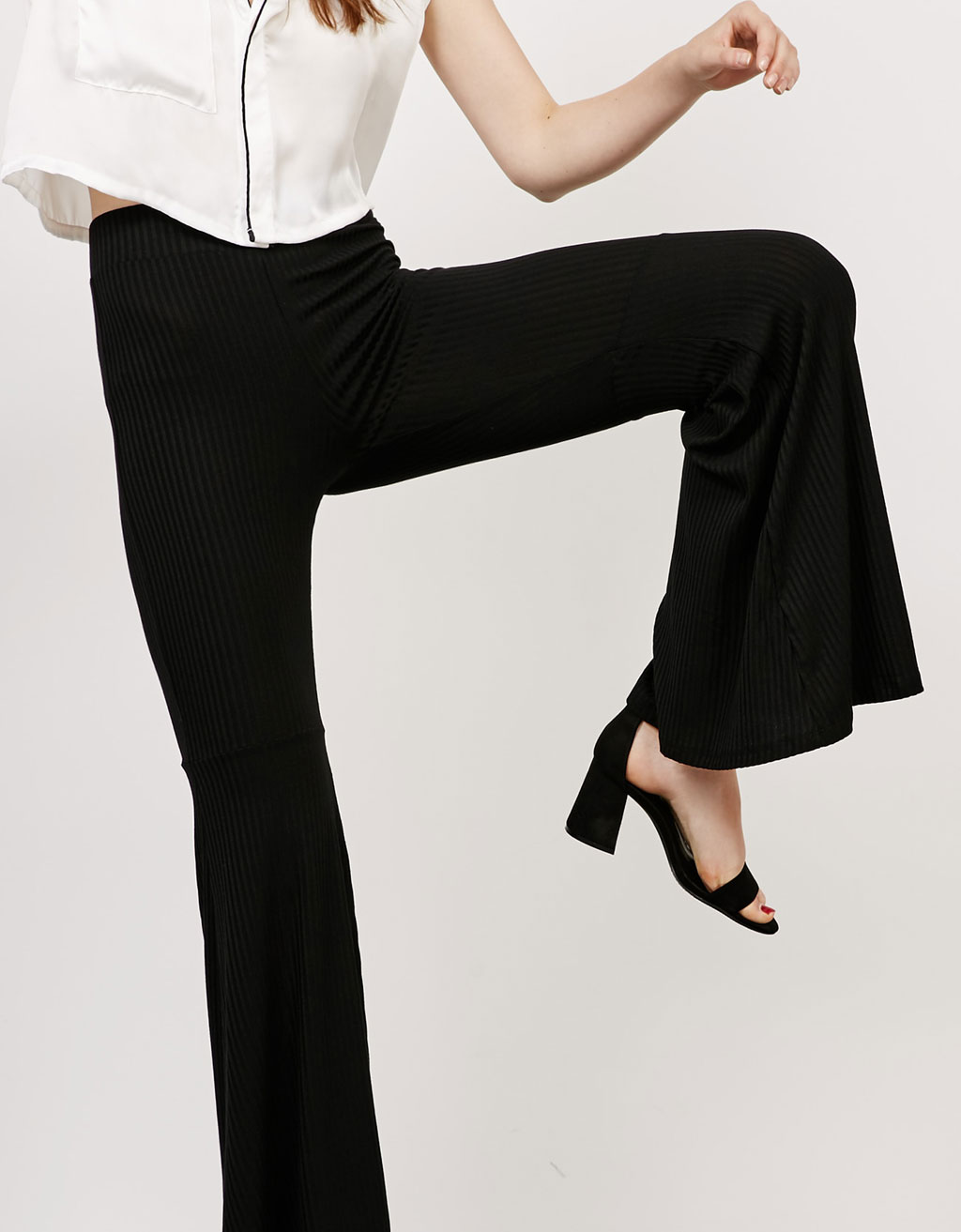 Maxi-flare trousers