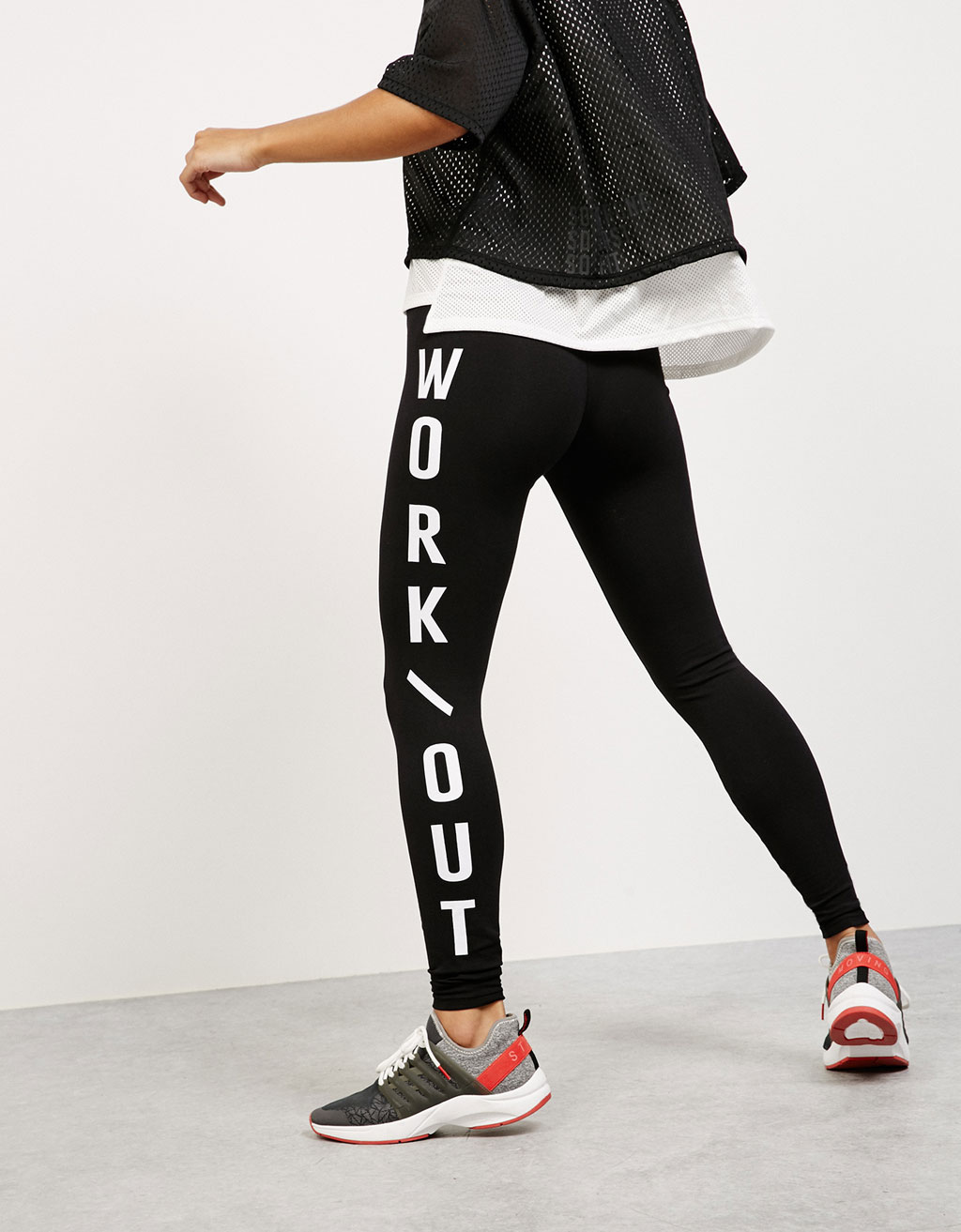 'Moving' technical sports leggings