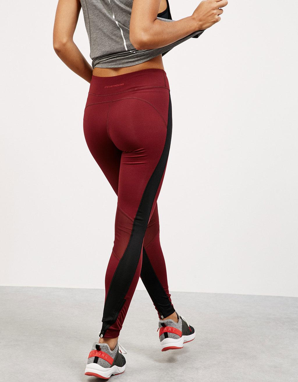 Technical stripe sports leggings