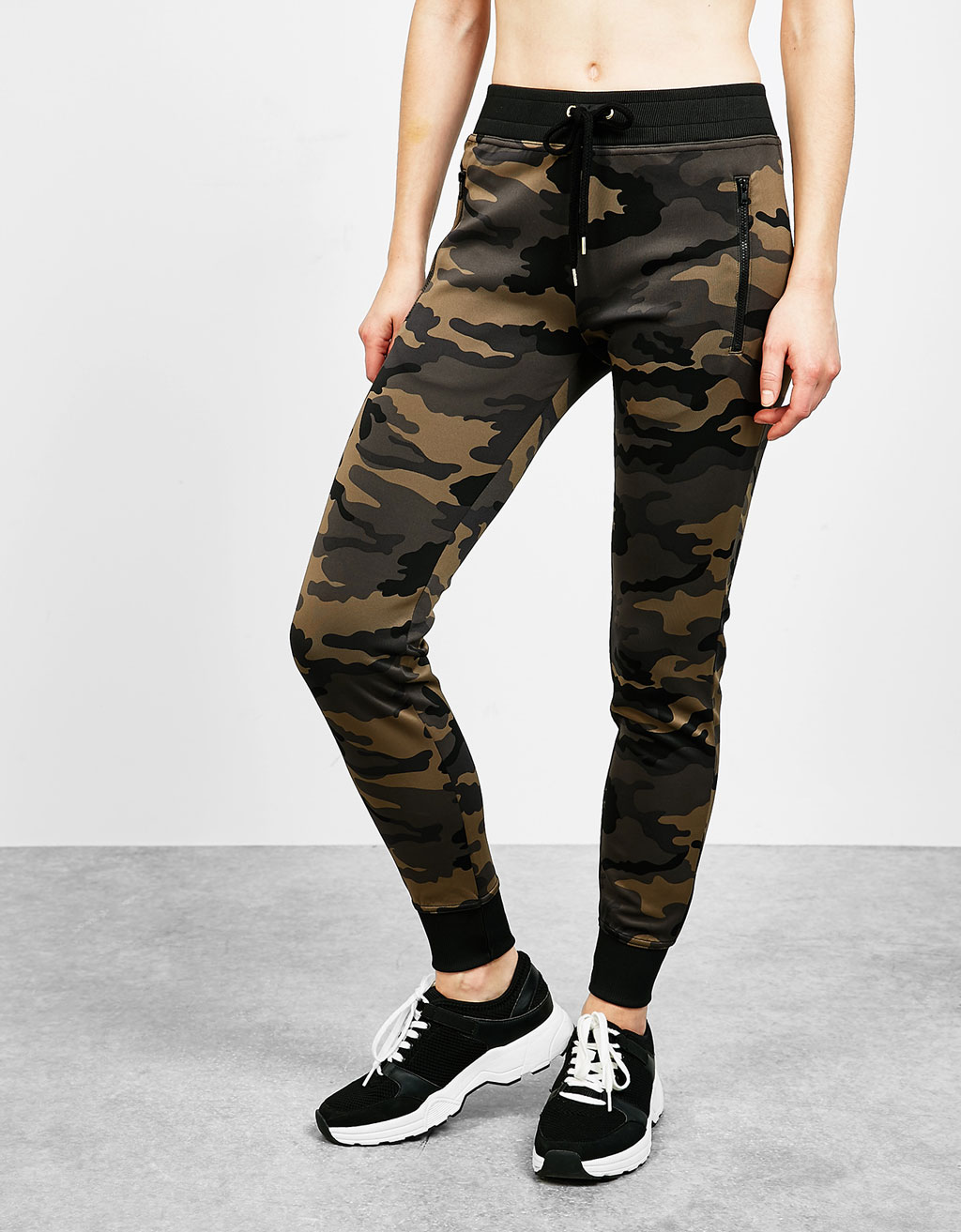 Camouflage neoprene sports trousers