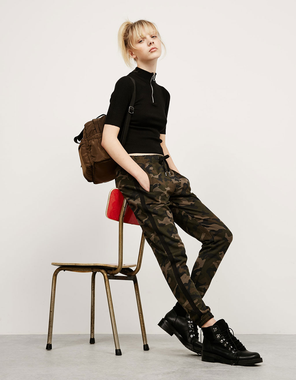 BSK camouflage plush trousers