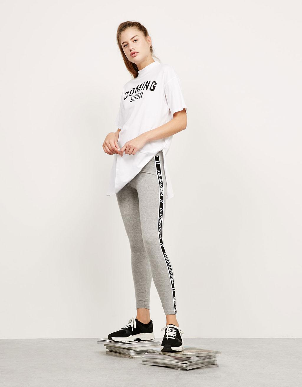 BSK circular leggings with lettering