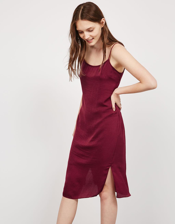 Φόρεμα slip εξώπλατο