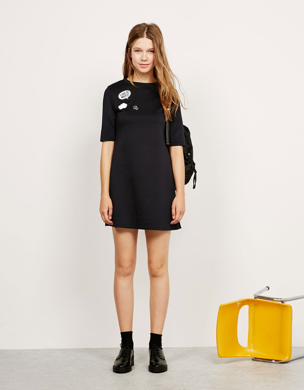 Neoprene patch dress