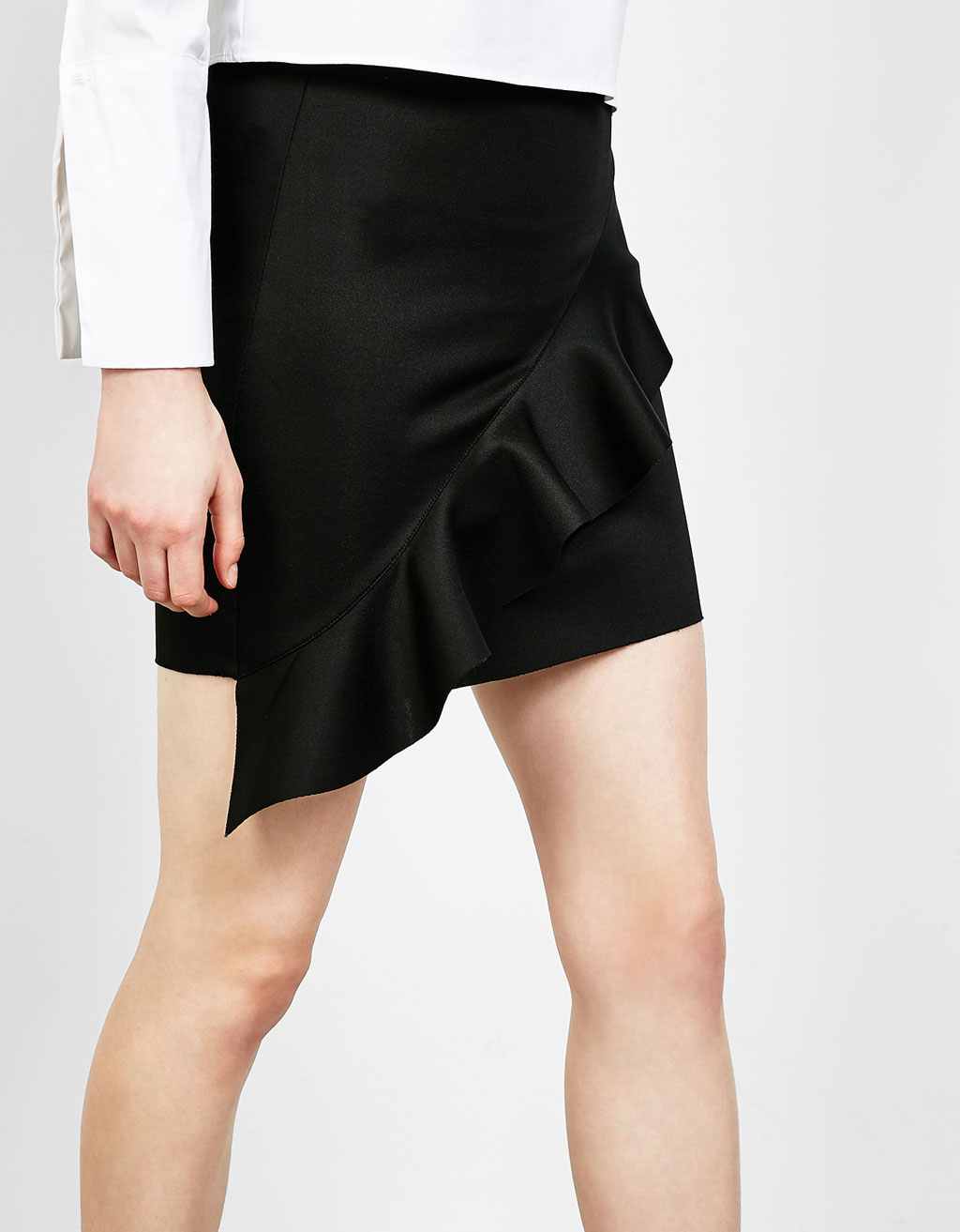 Ruffle mini skirt