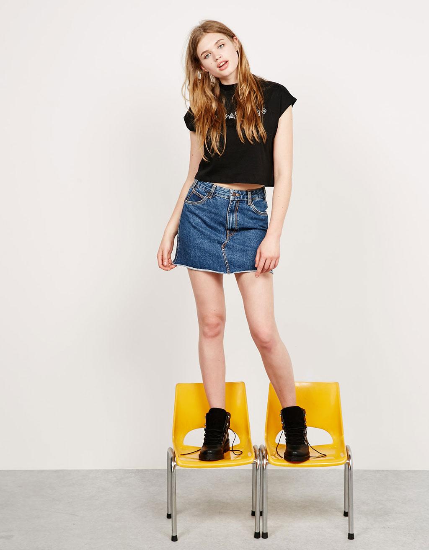 Винтажная джинсовая юбка