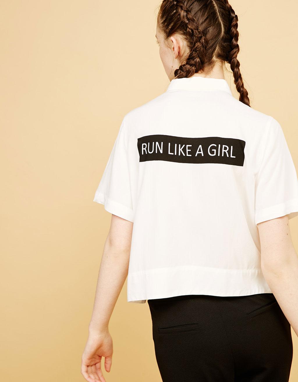 Camisa amb text esquena