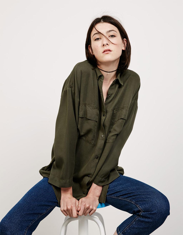 Camisa oversize Tencel