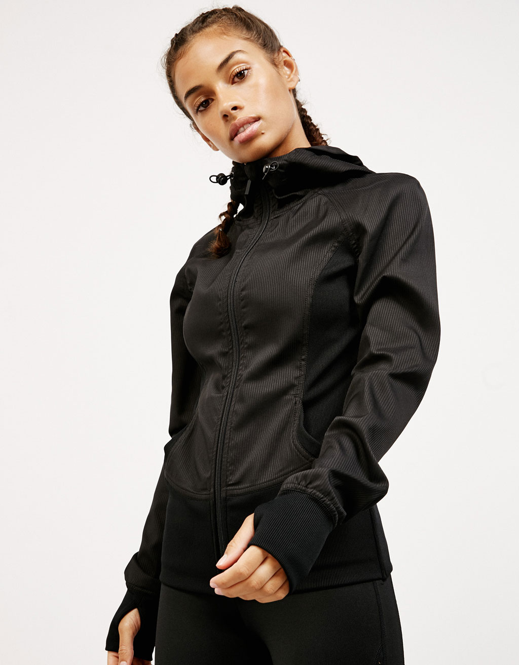 Technical fabric sports jacket