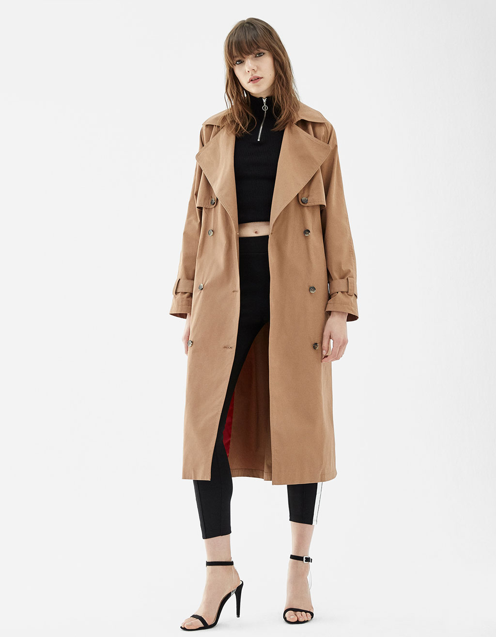 Classic cut long trench coat