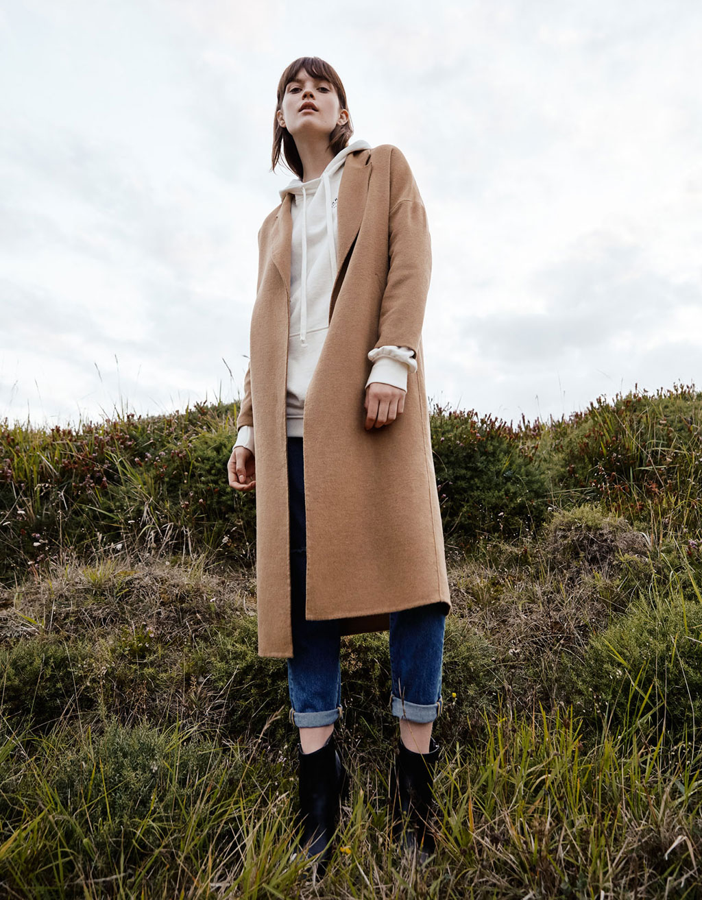Classic cut wool coat