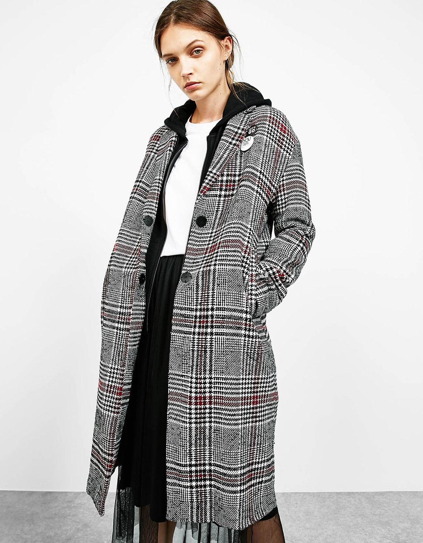 Grunge tartan coat