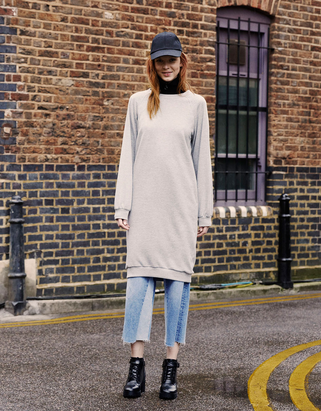 Long oversize sweatshirt