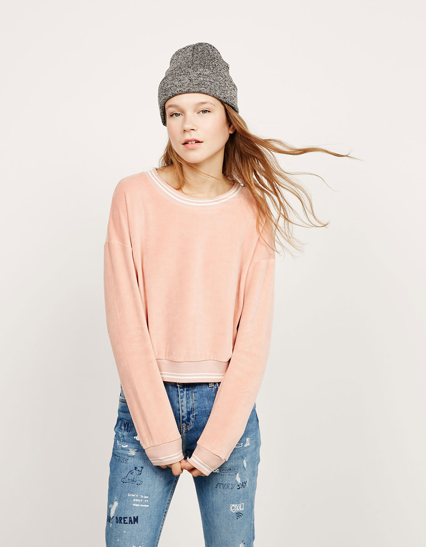 Μπλούζα φούτερ από βελούδο