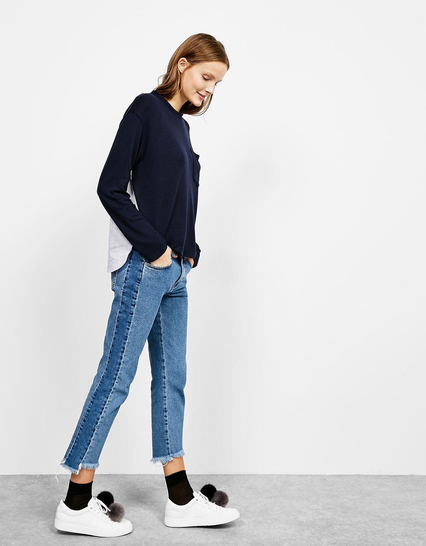 Jersey con bolsillo bajo camisa