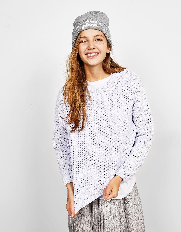 Pullover aus Chenille-Baumwolle