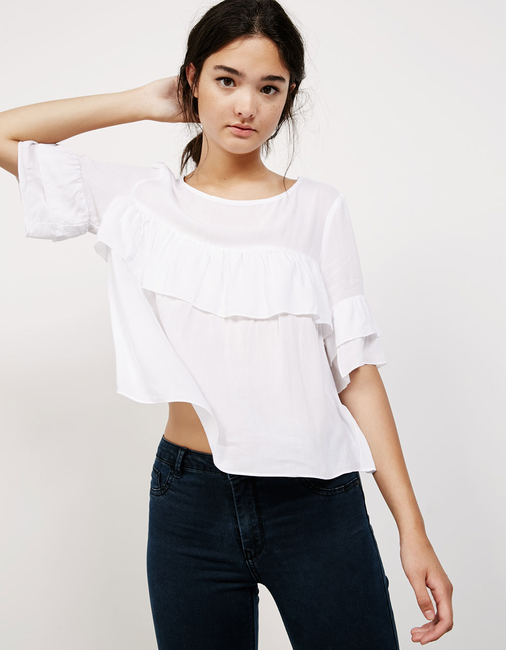 Viscose ruffle top
