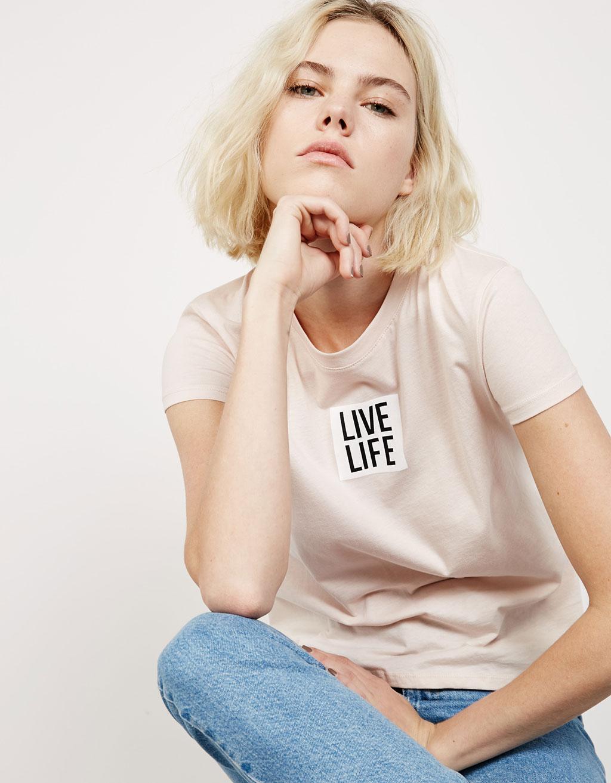 'Live/Life' top