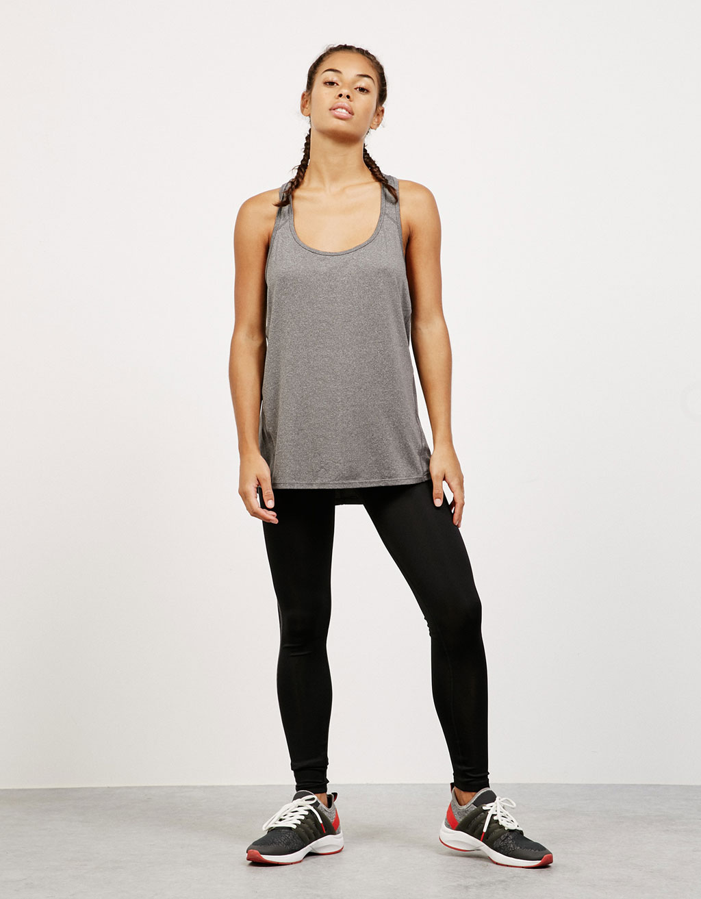 Loose-fitting, racerback technical sports top