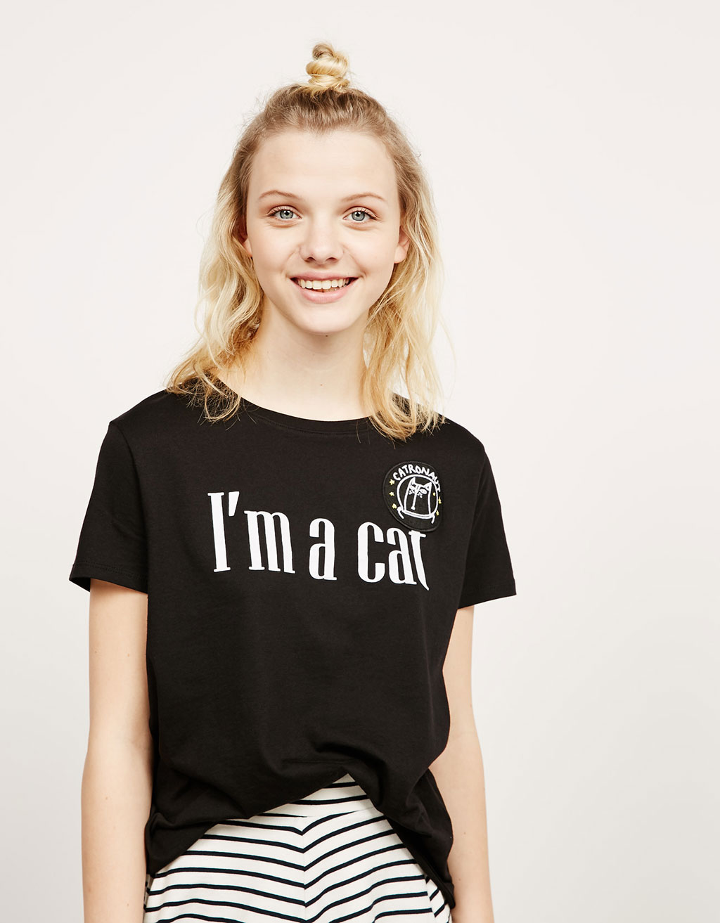 T-shirt texte « I'm a cat »