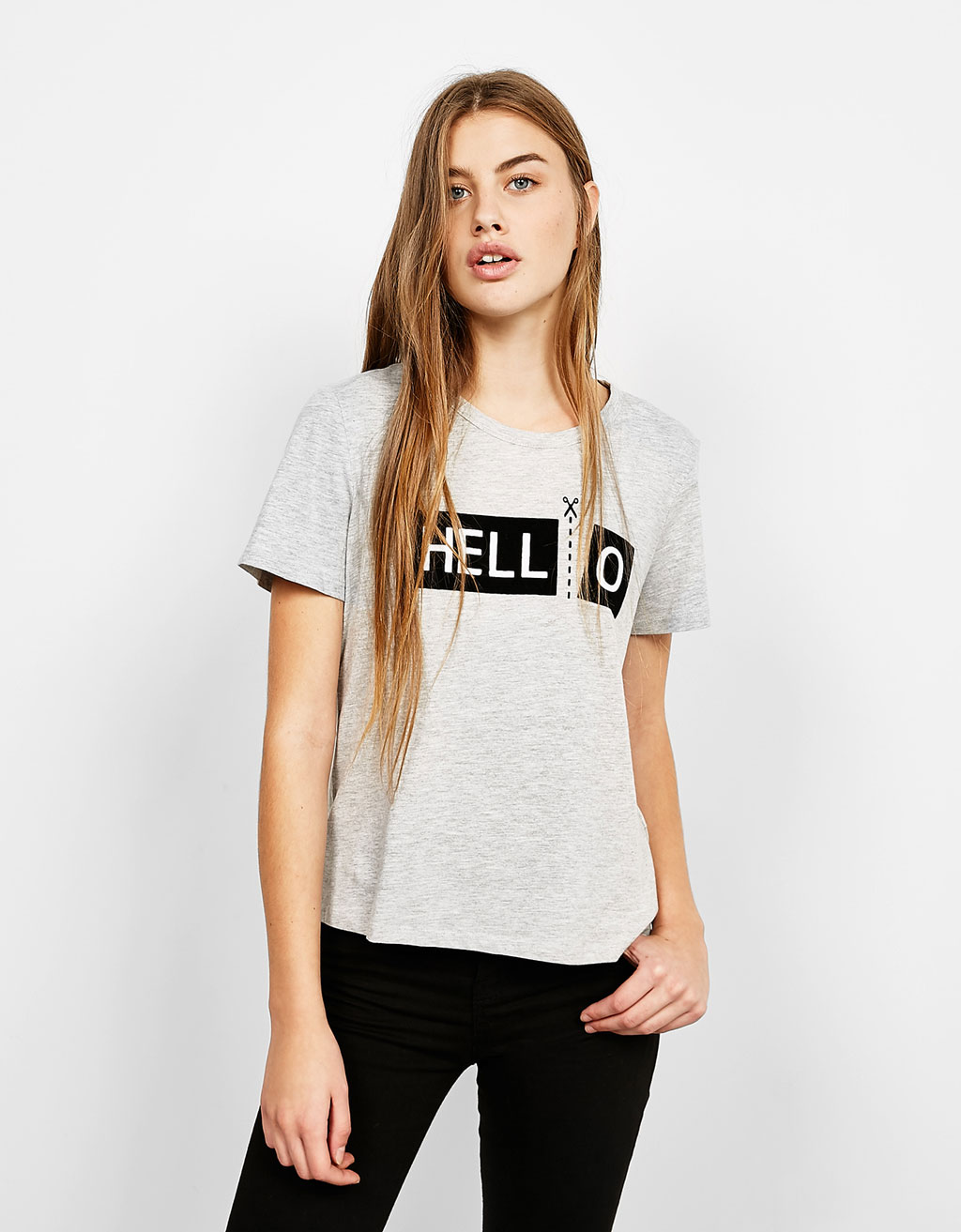 Camiseta estampada HELL-O
