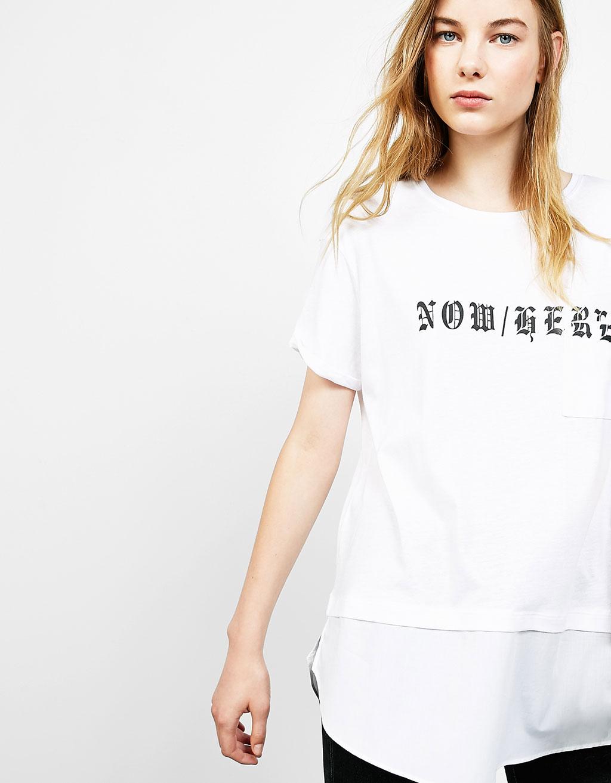 Gothic text print T-shirt