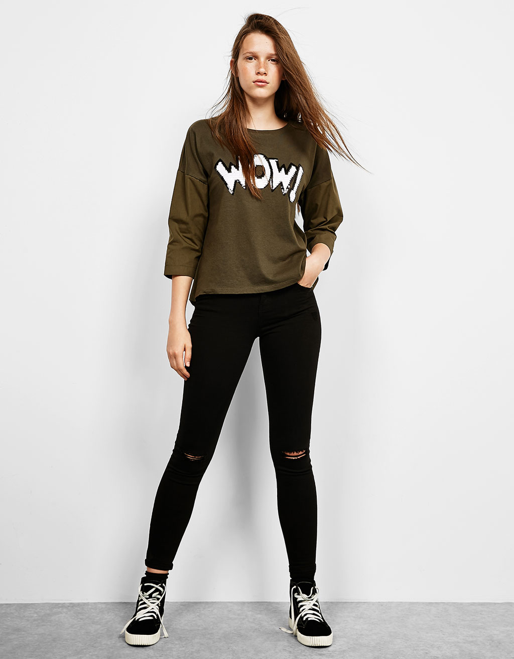 WOW! patch T-shirt