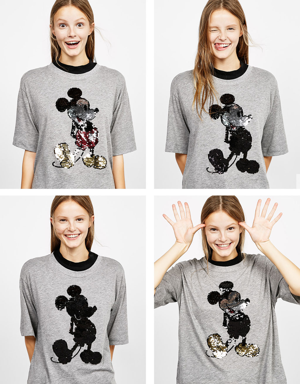 Reversible sequins Mickey T-shirt