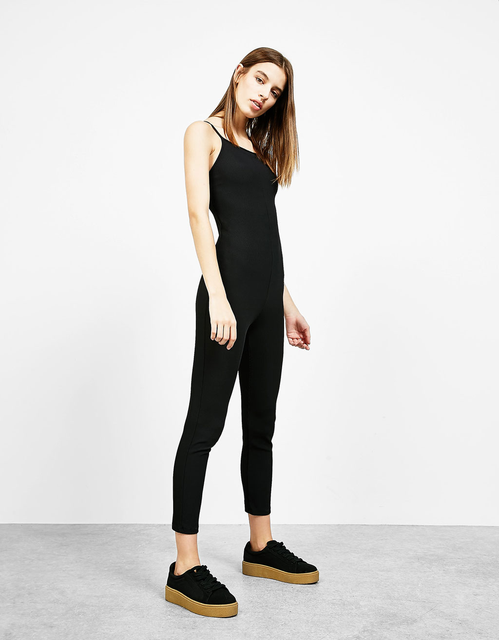 Strappy fitted jumpsuit