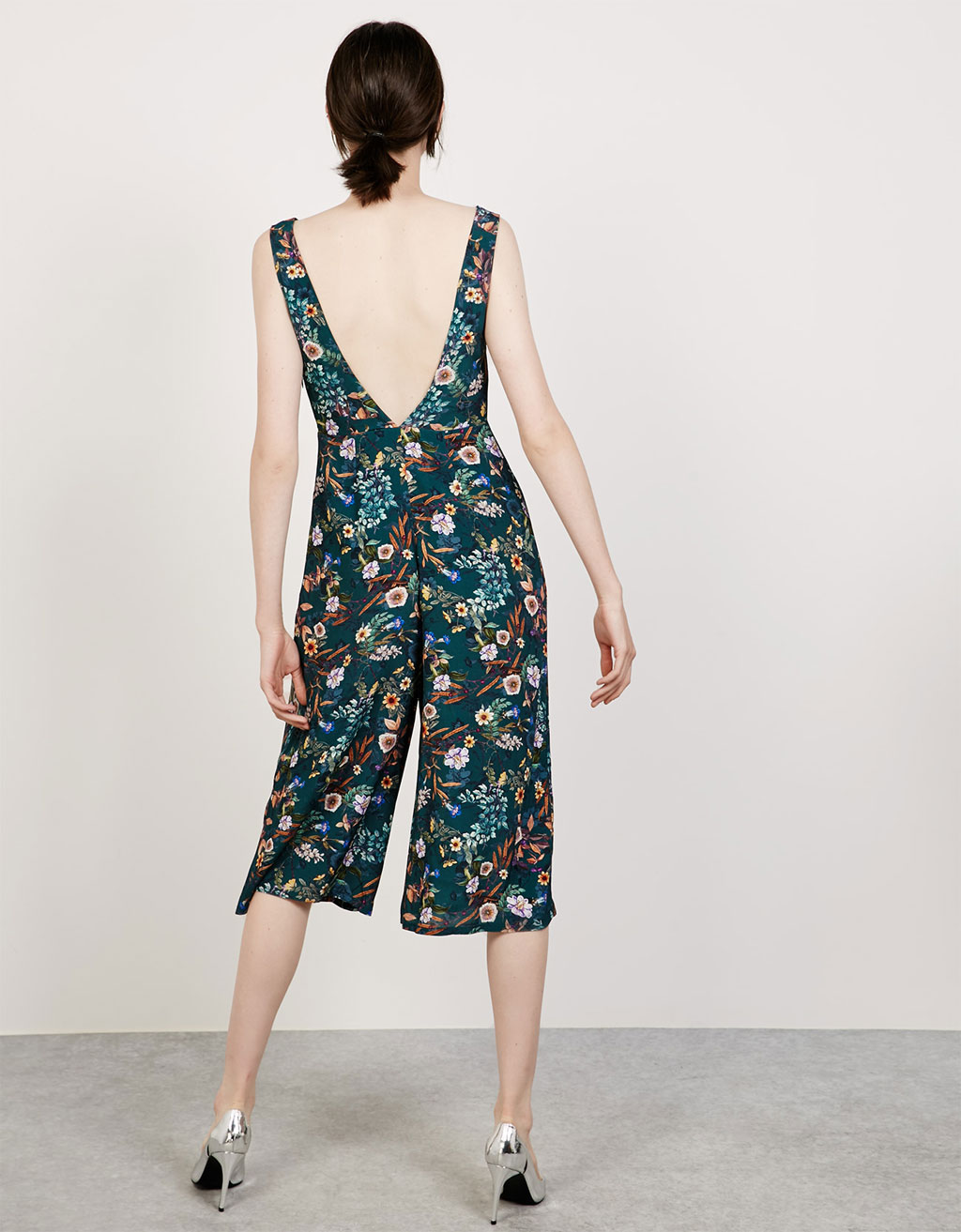 Print wide-leg jumpsuit