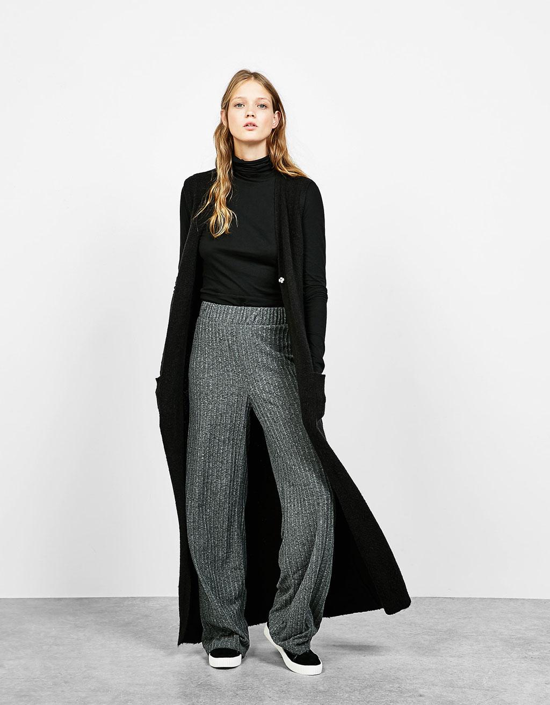 Open knit waistcoat