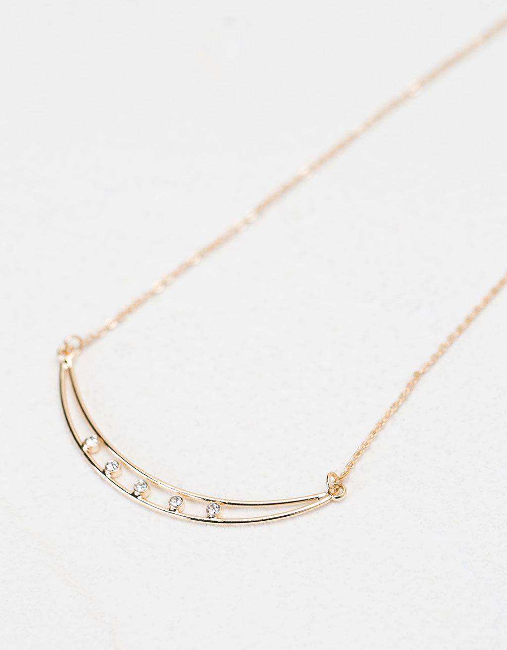 Half moon shimmer necklace