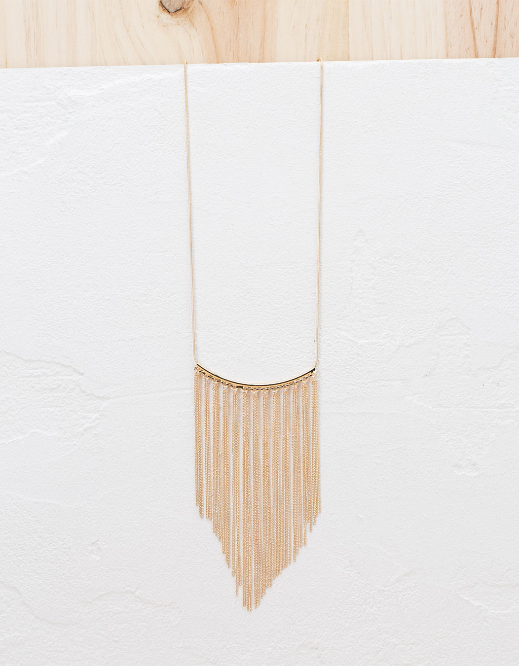Fine chain fringe necklace