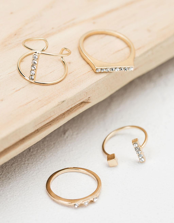 Minimal shimmer ring