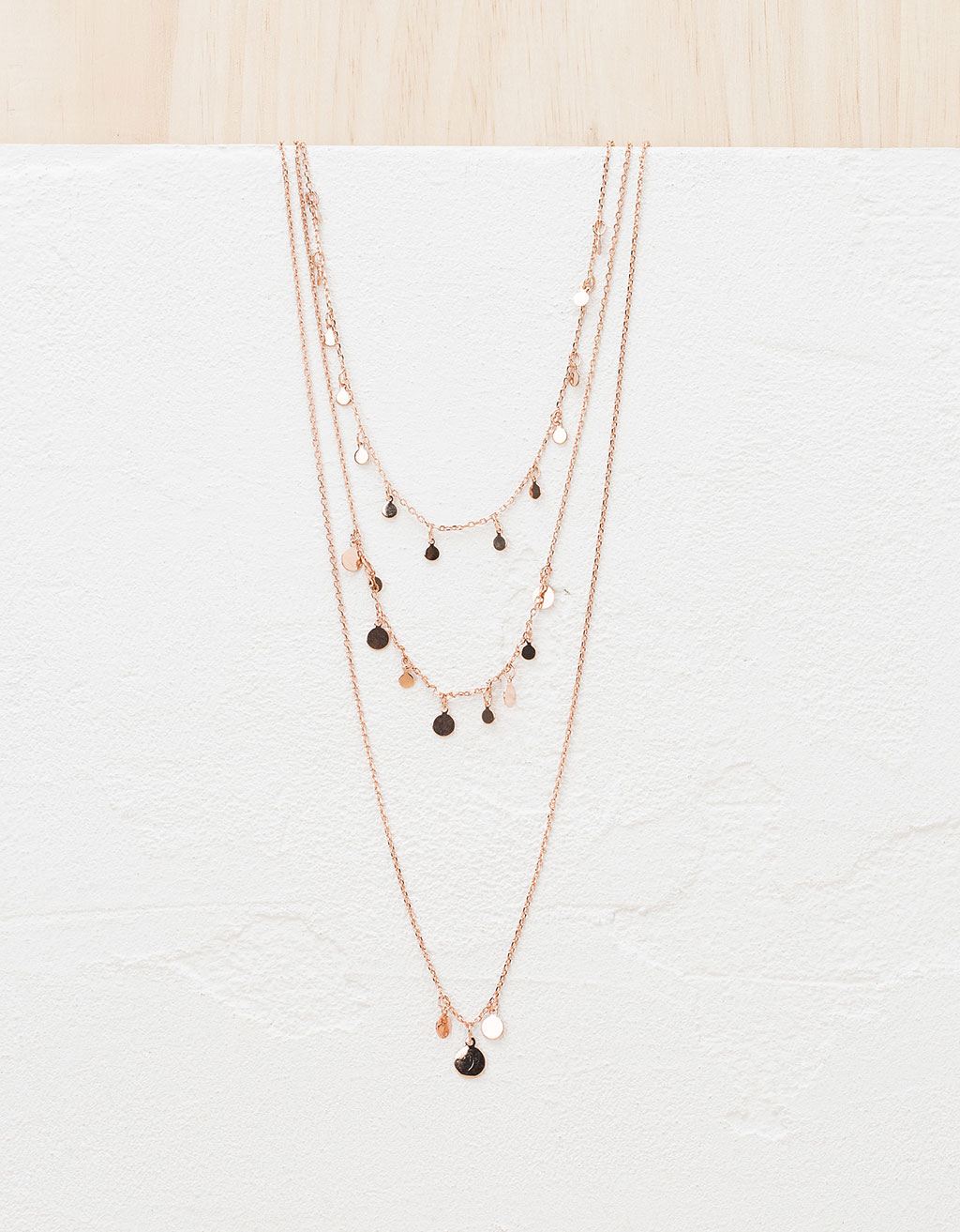 Three-twist coin necklace