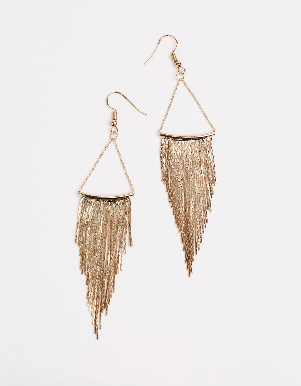 Fringed chain earrings
