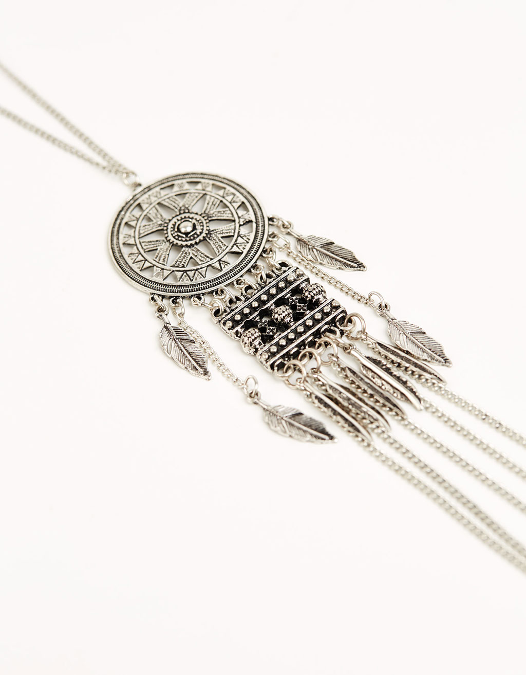 Dream catcher chain necklace