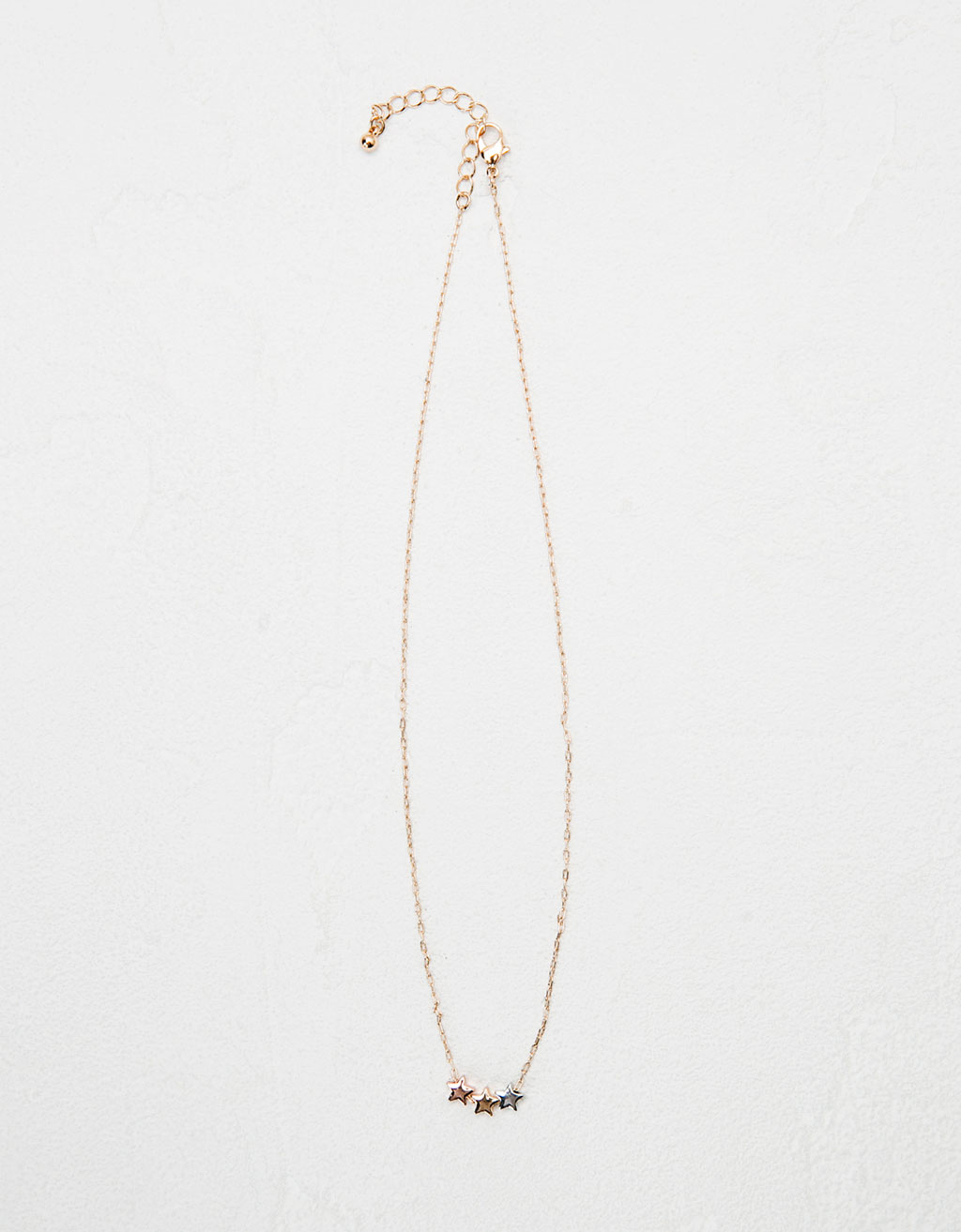 Minimal star necklace