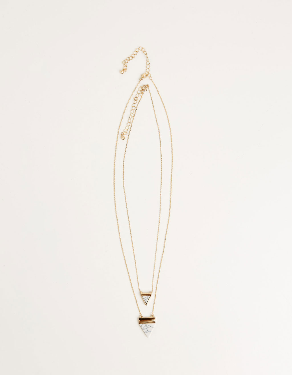 Marble effect triangle necklace