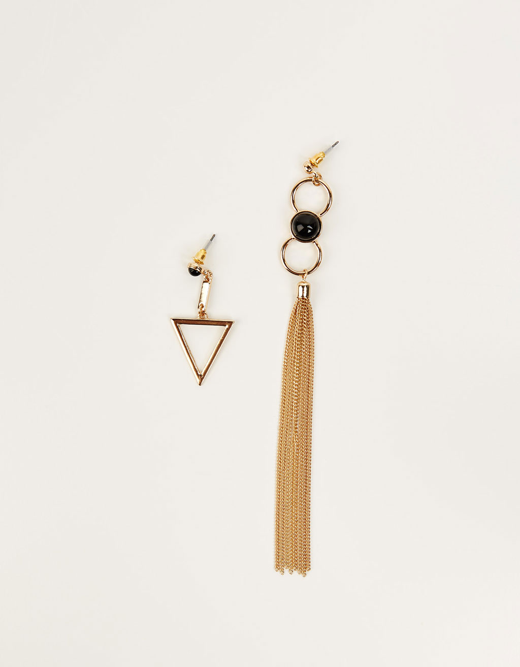 Mix&Match black stone earrings