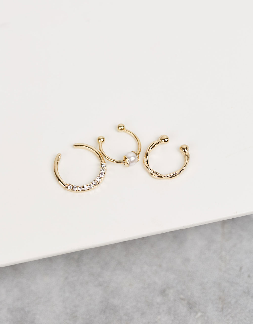 Set Septum, perla y brillantes